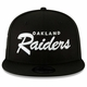 Raiders New Era 9Fifty Oakland Script Black Cap