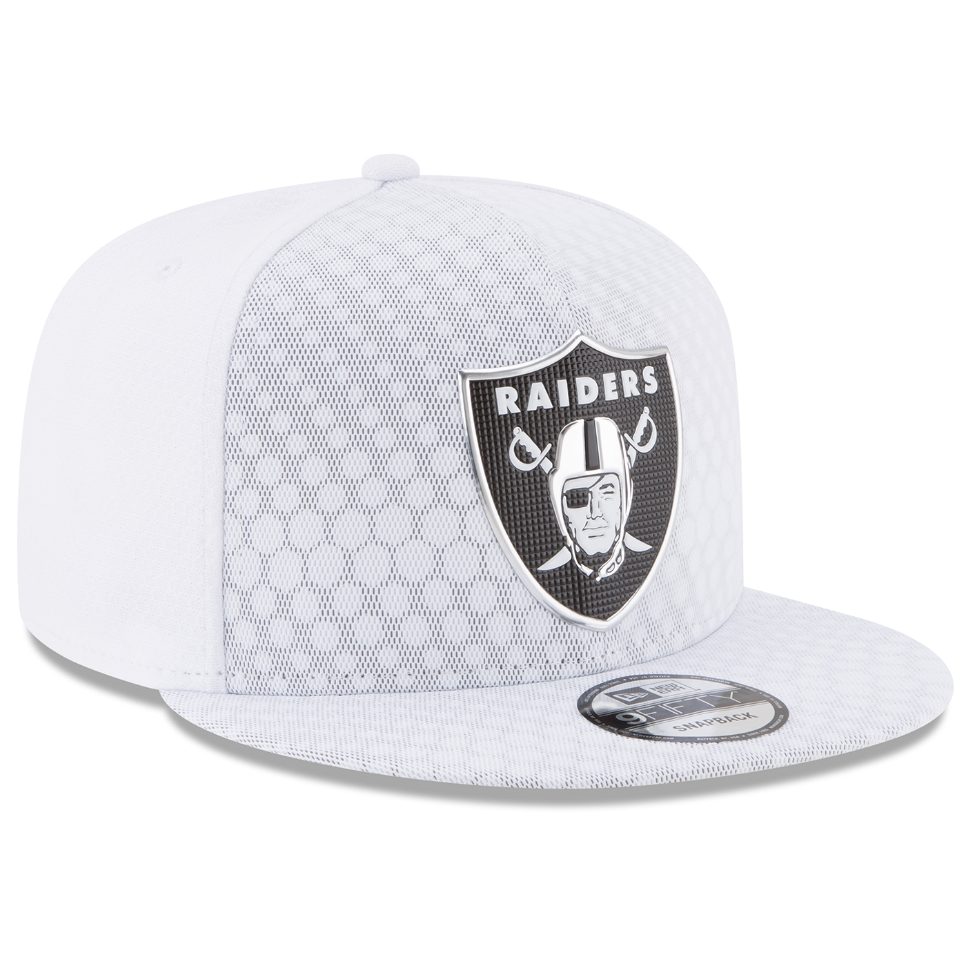wholesale dealer dfa33 a28ea Raiders New Era 9Fifty Official 2017 Sideline Color Rush Cap