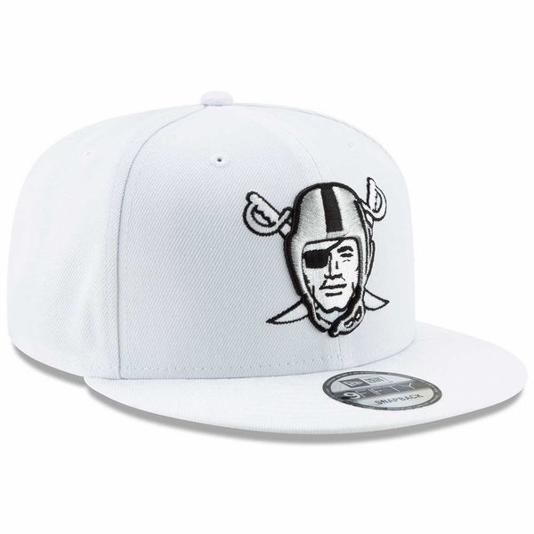 Raiders New Era 9Fifty Pirate Logo White Cap
