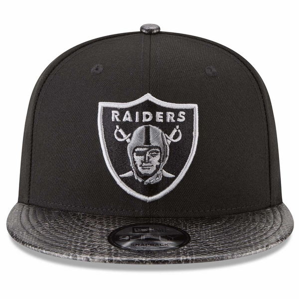 Raiders New Era 9Fifty Sleek Snakeskin Cap