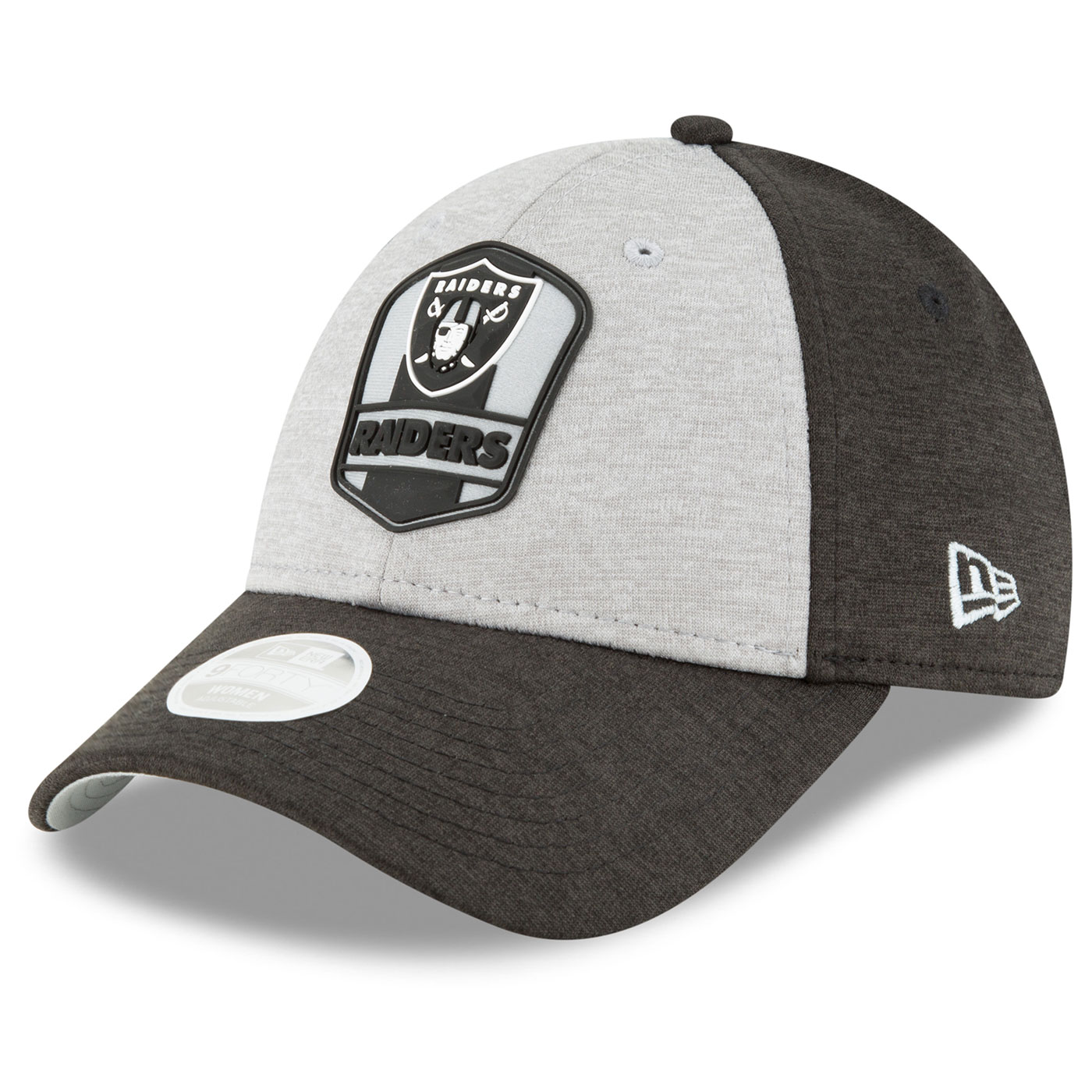 37d98671a Raiders New Era 9Forty 2018 Official Sideline Women s Road Cap