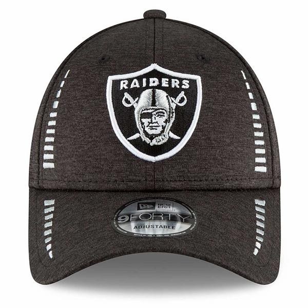 Raiders New Era 9Forty Speed Shadow Tech Heather Black Cap