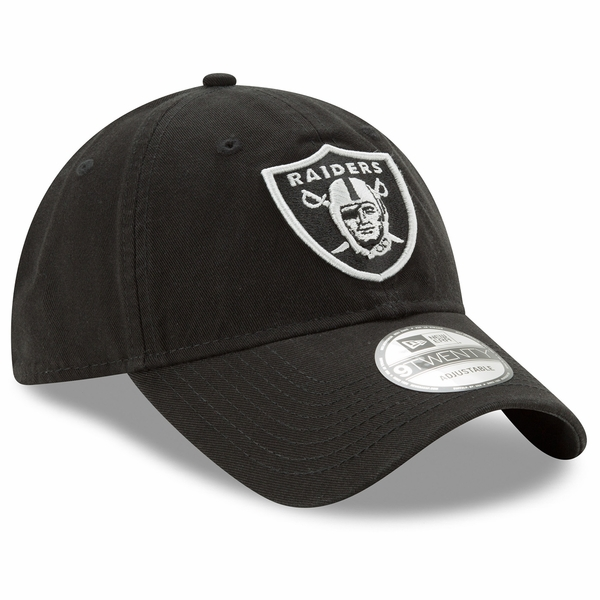 Raiders New Era 9Twenty Core Classic Black Twill Cap