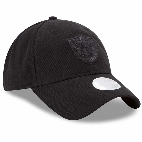 Raiders New Era 9Twenty Tonal Black Team Glisten