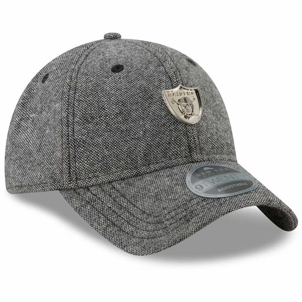 Raiders New Era 9Twenty Tweed Badge Grey Cap