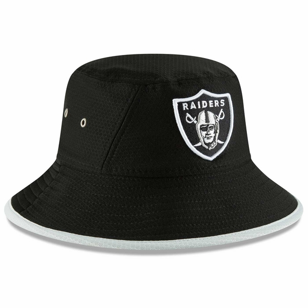 Raiders New Era Black Hex Team Bucket