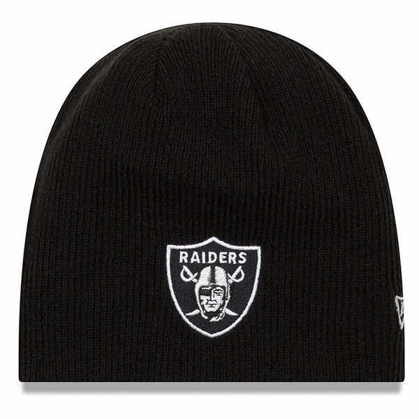 Raiders New Era Black Reversible Basic Team Beanie