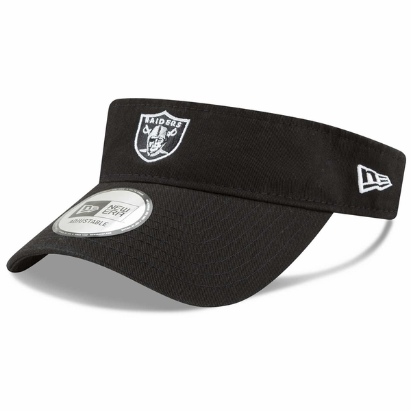 Raiders New Era Black Shield Logo Visor