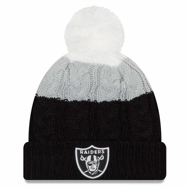 Raiders New Era Layered Up 2 Graphite Knit