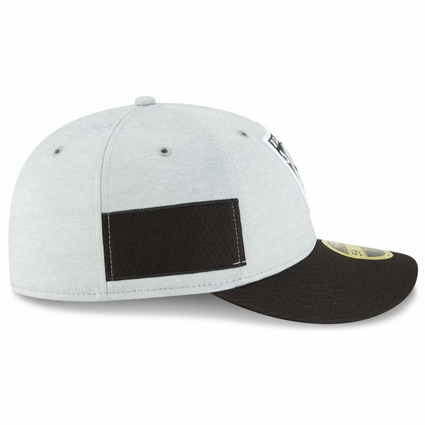 Raiders New Era Low Profile 59Fifty 2018 Official Sideline Home Cap