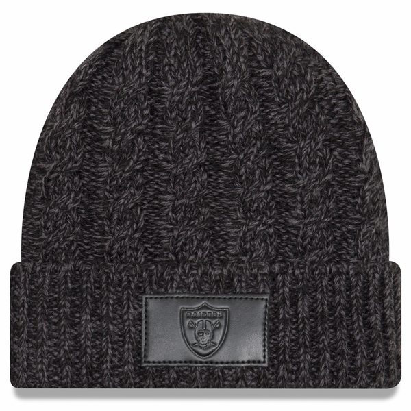 Raiders New Era Polar Patch Knit