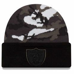 b8573e47166 Raiders New Era Urban Camo Cuffed Knit Hat