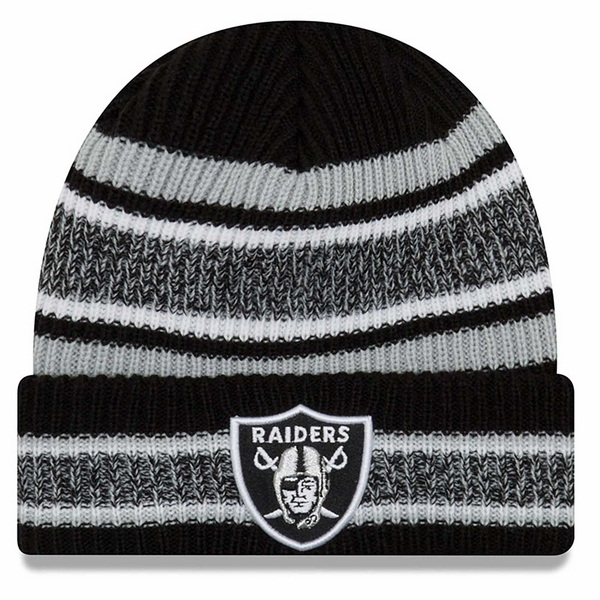 Raiders New Era Vintage Stripe Team Color Knit