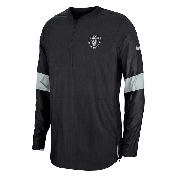 Raiders Nike 1/4 Zip Lightweight Coaches Jacket