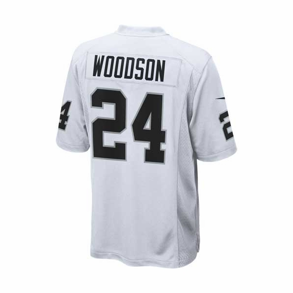 c4526f9e Raiders Nike Charles Woodson White Game Jersey