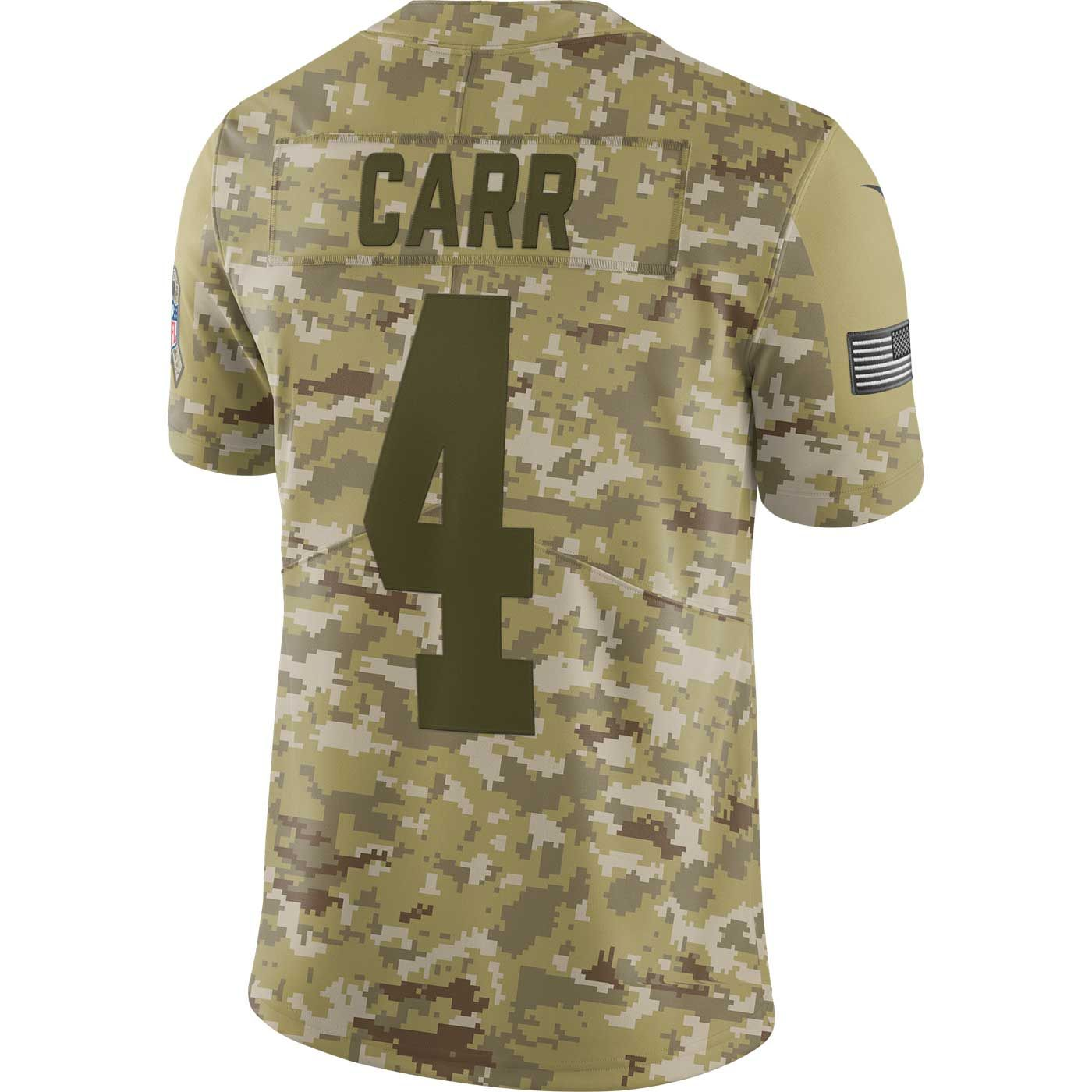 Raiders Nike Derek Carr Salute to Service Limited Jersey 680a626a2