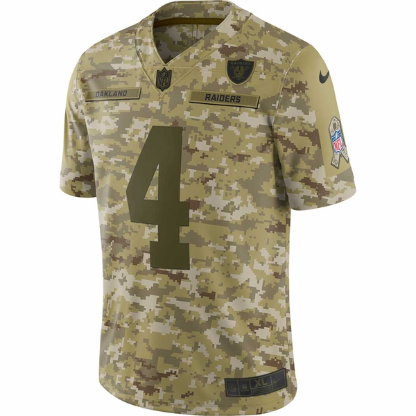 Raiders Nike Derek Carr Salute to Service Limited Jersey