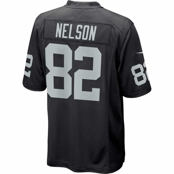 Raiders Nike Jordy Nelson Black Game Jersey