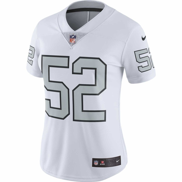 Raiders Nike Khalil Mack Women's Color Rush Limited Jersey