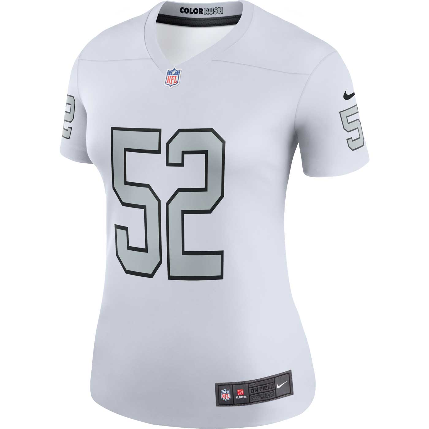 inexpensive mens oakland raiders khalil mack nike white color rush legend  jersey b0890 e4eef  order raiders nike khalil mack womens legend color rush  jersey ... 831b422a3