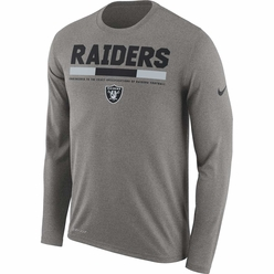 Raiders Nike Long Sleeve Legend Grey Tee d5d45bc34