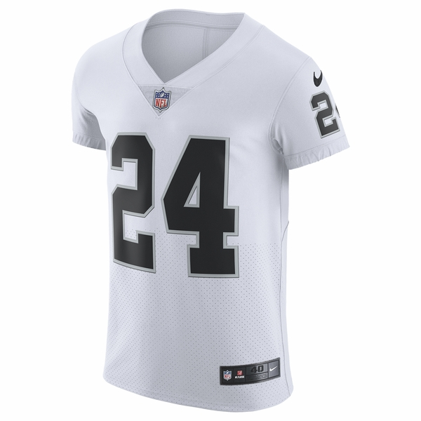 Raiders Nike Marshawn Lynch White Elite Jersey