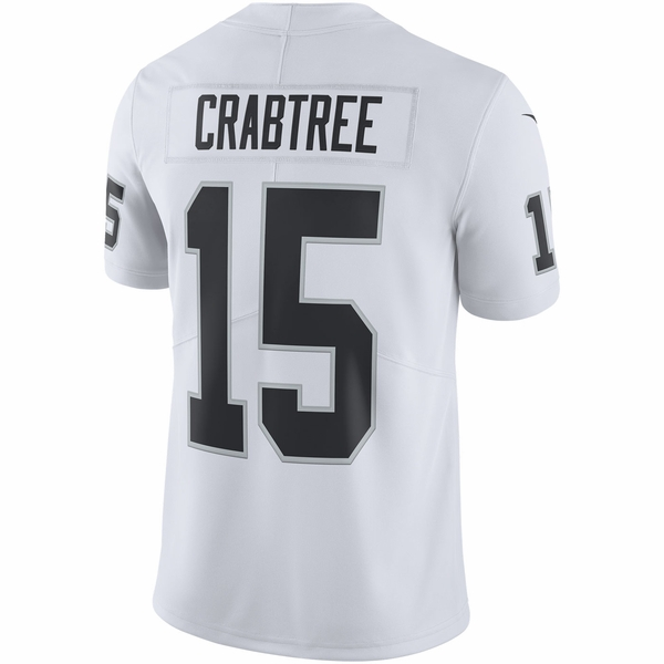 Raiders Nike Michael Crabtree White Limited Jersey