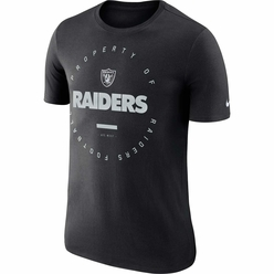 66eb78eae068 Raiders Nike Property Of Short Sleeve Black Tee