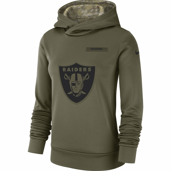 Raiders Nike Salute to Service Women's Therma Hood