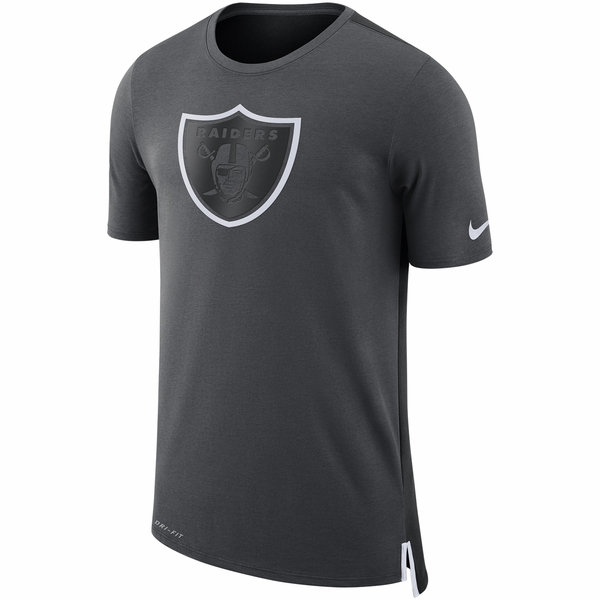 Raiders Nike Sideline Travel Mesh Performance Tee