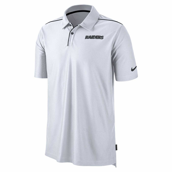 Raiders Nike Team Issue White Polo