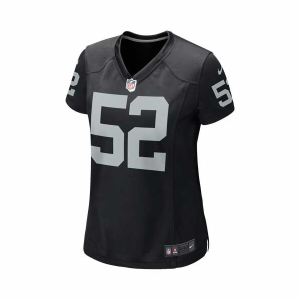 Raiders Nike Women's Khalil Mack Black Game Jersey