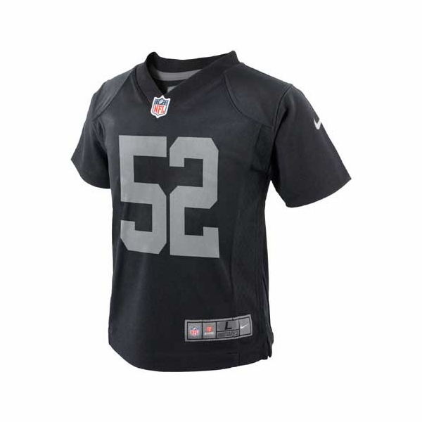 finest selection c9967 79ded Raiders Nike Youth Khalil Mack Black Game Jersey