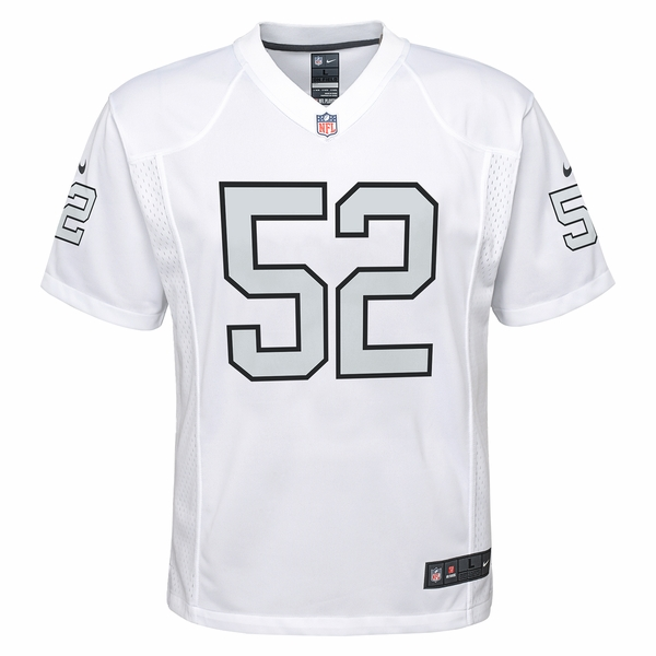 Raiders Nike Youth Khalil Mack Color Rush Game Jersey