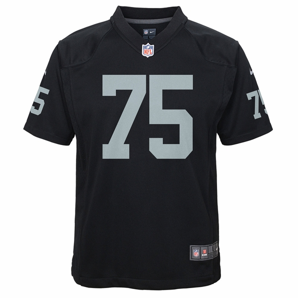 Raiders Nike Youth Long Black Game Jersey