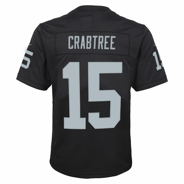 Raiders Nike Youth Michael Crabtree Black Limited Jersey