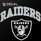 Raiders Outlined Arched Logo Die Cut Decal