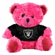 Raiders Pink Seated Jersey Bear