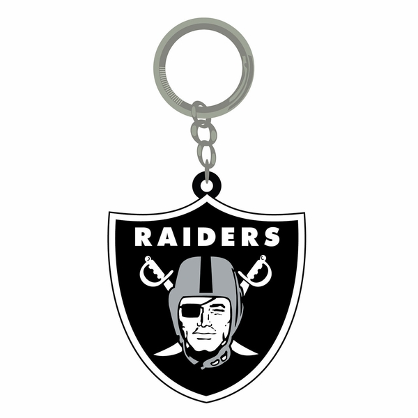 Raiders PVC Shield Logo Key Chain