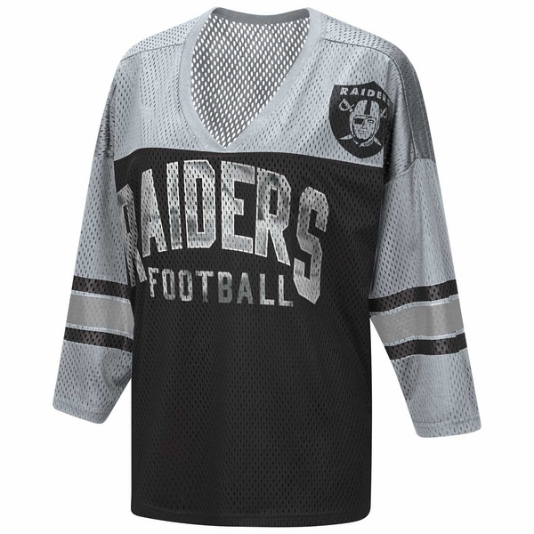 Raiders Razzle Dazzle Mesh Top