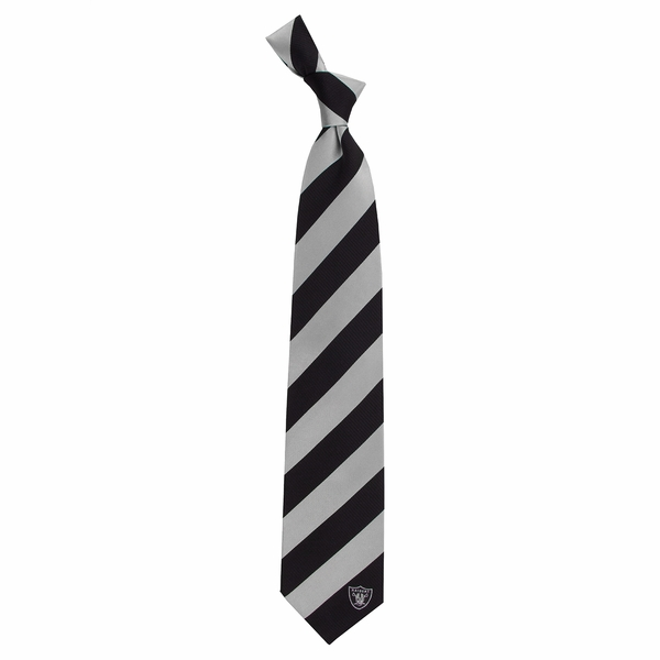 Raiders Regiment Striped Silk Neck Tie