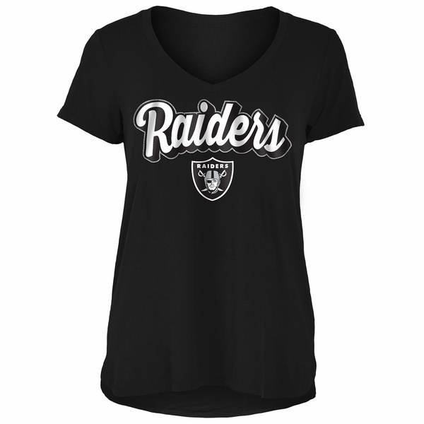 Raiders Short Sleeve V-Neck Jersey Tee