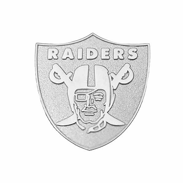 Raiders Silver Logo Lapel Pin