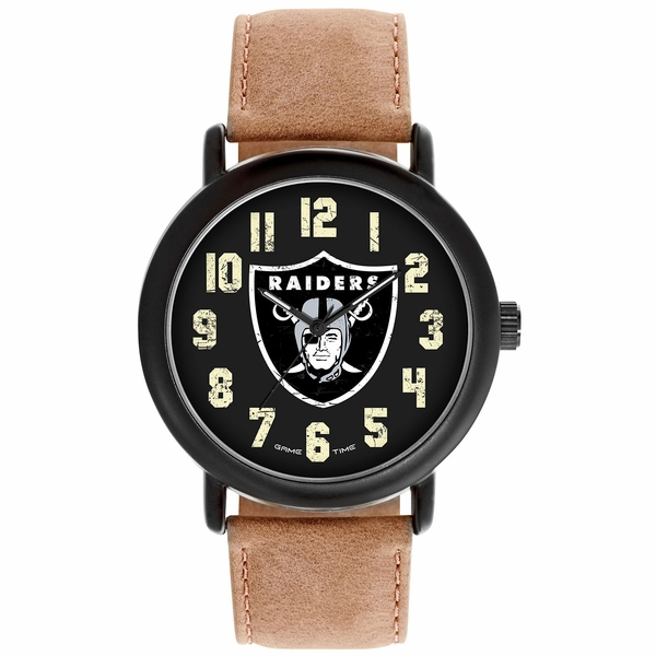 Raiders Throwback Leather Watch