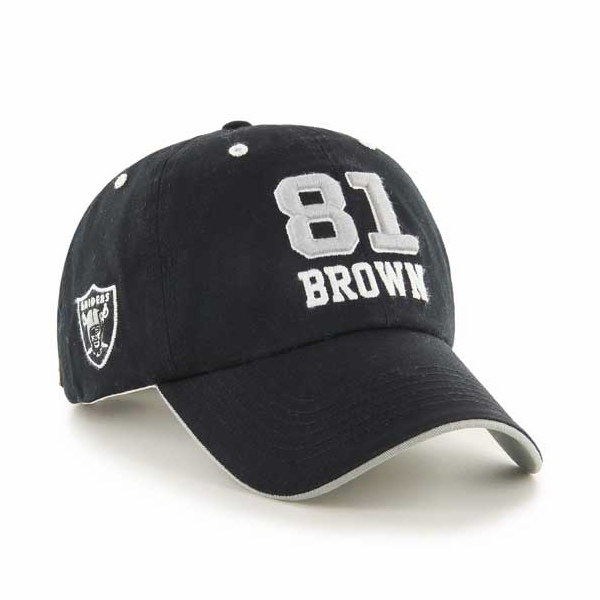 Raiders Tim Brown Hall Of Fame Name and Number Cap