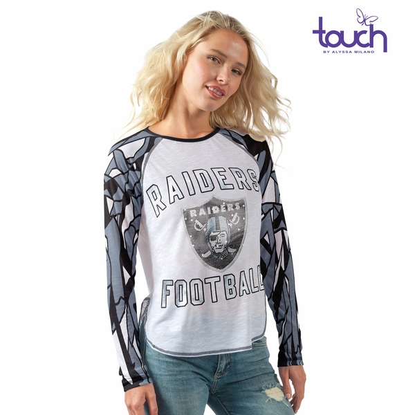 Raiders Touch by Alyssa Milano Draft Pick FIT Tee