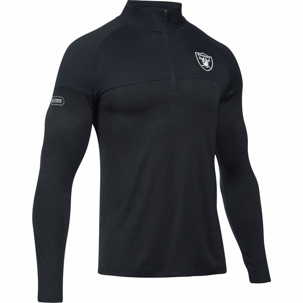 Raiders Under Armour Twist Tech Quarter Zip