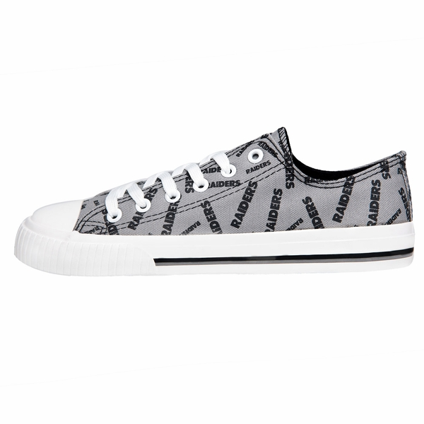 Raiders Women's Low Top Repeat Canvas Shoes
