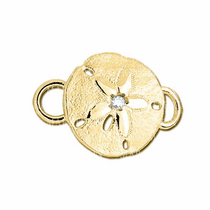 14K Sand Dollar with Diamond Convertible Clasp - Click to enlarge