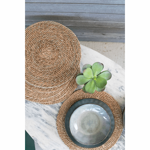 """15"""" Round Seagrass Place Mats - set of 6"""